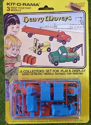 R & L Kit O Rama  1970s Heavy movers ,semi,Tow Truck and Forklift