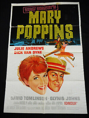 MARY POPPINS 1964 * JULIE ANDREWS * DICK VAN DYKE * STYLE-A 27x41 ONE SHEET!!