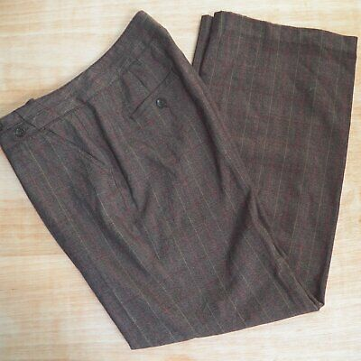 dbeffe3ac1 CATO WOMENS TROUSERS Wide Leg High Rise Brown Plaid Pants 18W NWT ...