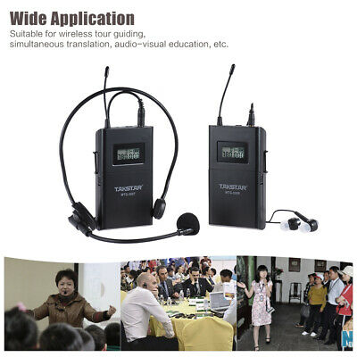 ammoon UHF Wireless Acoustic Transmitter + Receive w/ Lavalier Microphone C2L5