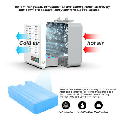 Portable Mini  Conditioner Cool Cooling Artic  Cooler Fan Humidifier Hot