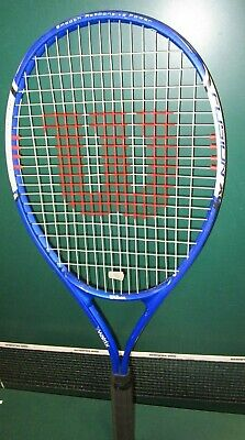 "Wilson Fusion XL X8 Stop Shock TENNIS RACQUET (4 1/2"" grip) Tactical Alloy"