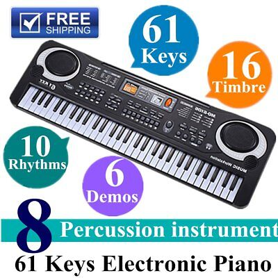 61 Keys Children Musical Instrument Electronic Piano Keyboard 16 Timbre LOT hr