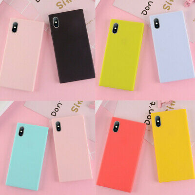 Square Soft Bumper Rubber Shockproof Case Cover For Apple iPhone X 7 8 Plus 6s