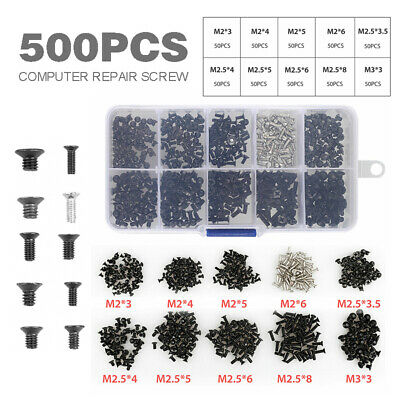500pcs Laptop Notebook Computer Screw Kit Fit For Samsung IBM HP Dell Lenovo PC
