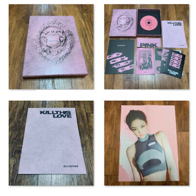 [JENNIE] BLACKPINK Official FOLDED POSTER + 2nd Mini Album Opened CD Pink Ver.
