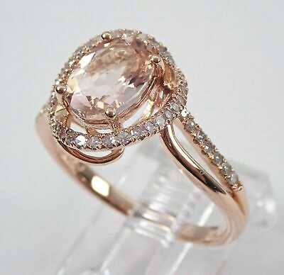 d6a2dc45831a9 REAL 14K ROSE Gold 5.00 CT Oval Shape Diamond Engagement Wedding ...