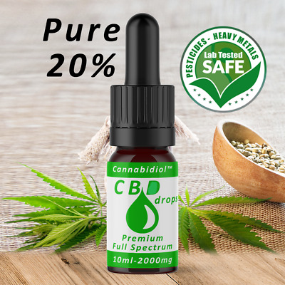 Strong Oil (20%Cbd) 10Ml Power Strong   2000Mg   99.9% Pure