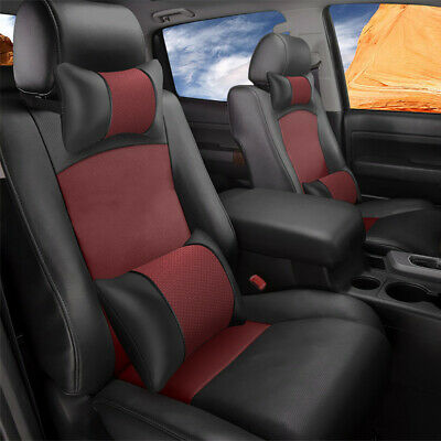 Sensational Truck Car Seat Covers Pu Leather Fits For 4 Door Toyota Ibusinesslaw Wood Chair Design Ideas Ibusinesslaworg