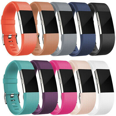Wristband Rubber Replacement Silicone Bracelet Strap Band For Fitbit Charger 2