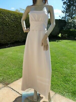 *MARKS & SPENCER AUTOGRAPH* Ladies Cream FIT & FLARE DRESS uk12 BNWT rrp£160