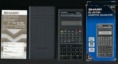 Sharp Scientific Electronic Calculator EL 531GH with Cover Box Instruction Book
