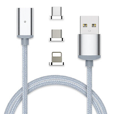 Micro USB Port Magnetic Adapter Charger USB Cable With IOS Android Type c Lot