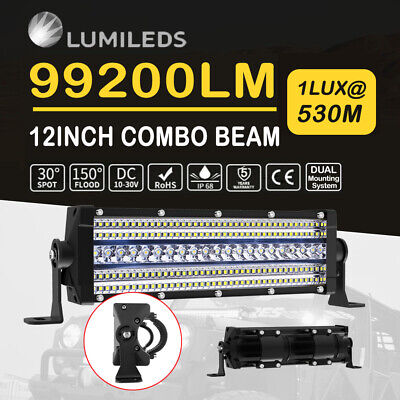 12inch LED Light Bar Penta Row Spot Flood Cmobo Beam Reserve Driving Offroad 4WD