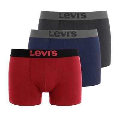 PACK OF 3 SHORTS UNDERWEAR MEN LEVI'S BOXER -SOFT N STRETCHY-ASSORTED- Cotton