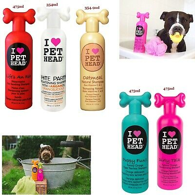 Pet Head Dog Puppy Shampoo Tearless Party Brightening Skin Soothing Deodorizing