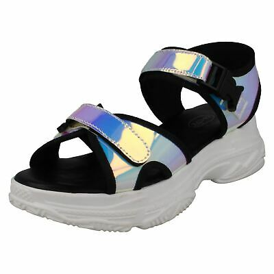 Spot On Ladies Chunky Sole Sporty Sandals