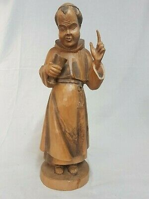 *Vintage OURO ARTESANIA Wooden Carved Monk From Spain