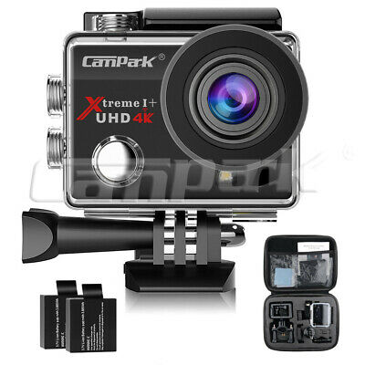 """Campark ACT74 Sports Action Camera 4K 16MP WiFi HD Underwater 30M 2"""" Helmet Cam"""