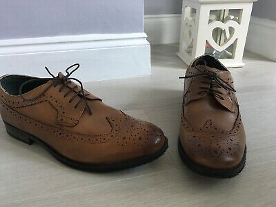 62671f0a1b26e Mens Silver Street Tan Brown Oxford Brouges Lace Up Shoes Size 11 Leather