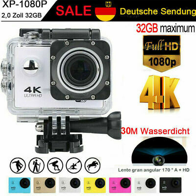 Sport Aktion Kamera Full HD 1080P 4K Helm Action Cam Camcorder Wasserdicht 30M