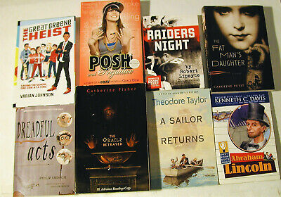 Lot of 7 ARC Teen / YA PB Various Authors / subjects + most are TPB size