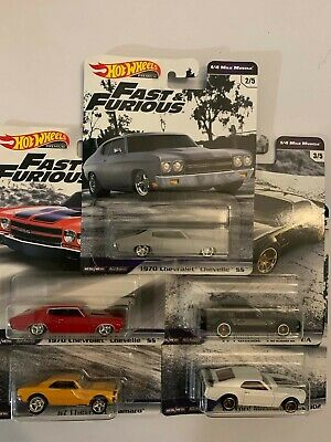 2019 HOT WHEELS Premium Fast & Furious 1/4 Mile Muscle Complete Set