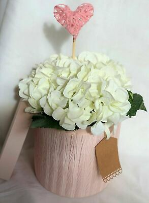 Hat Box Flowers Artificial Silk Bouquet Gift Hospital Flowers Hydrangea Mum Nan