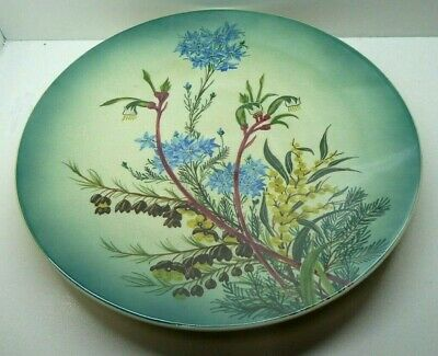 Studio Anna Australian Pottery Hand Painted Flora Wall Plate Native Flowers