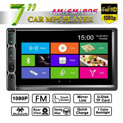 7inch HD 2Din Touch Screen Car Stereo MP5 Player Radio Android IOS USB/TF