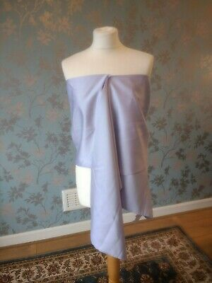 Berketex Lilac One Size Bridal Shawl Stole Cover Up Wrap Satin