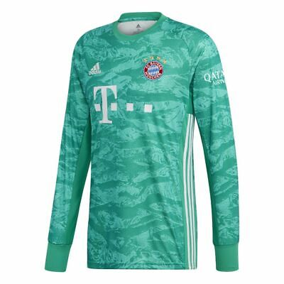 e9c0b9255c0 Adidas FC Bayern Munich Football Kids Home Goalkeeper Jersey Shirt 2019 2020