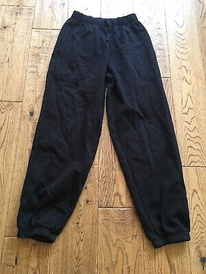 Boys jogging trousers size 9 years Black PE pockets Marks and Spencer