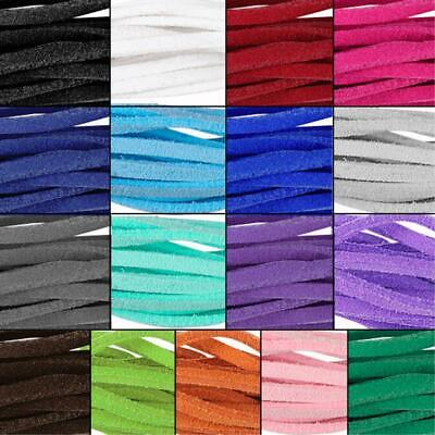 Bracelet Craft Faux Suede Cord Strap Lace Leather Flat Cord Rope String X10 0EF