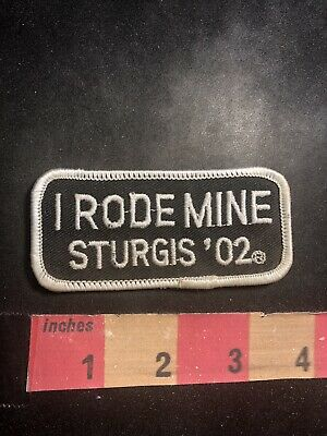 Color Version 3 - 2002 I RODE MINE STURGIS '02 Motorcycle Patch Biker 95V2
