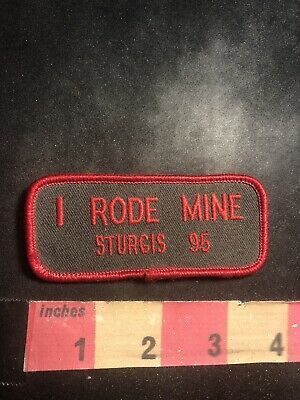 Red Letter 2005 I RODE MINE STURGIS '05 Motorcycle Patch Biker 95V2