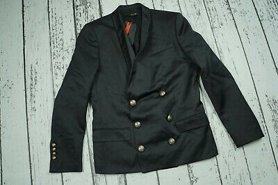 215da7ba NWT MENS BALMAIN x H&M BLACK US 38R EU 48 DOUBLE BREASTED WOOL JACKET BLAZER