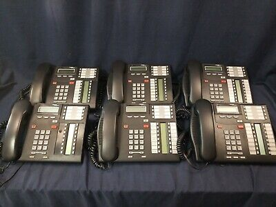 Lot of 6 Nortel Networks Norstar Avaya T7316E Telephones Business Office Phones