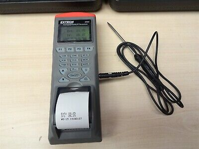 EXTECH Printing IR Thermometer with Probe Print Food Temperature