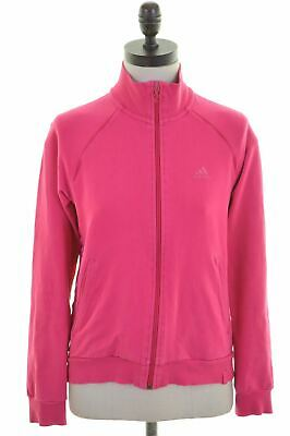 ADIDAS Girls Tracksuit Top Jacket 13-14 Years Pink Cotton Vintage BQ02