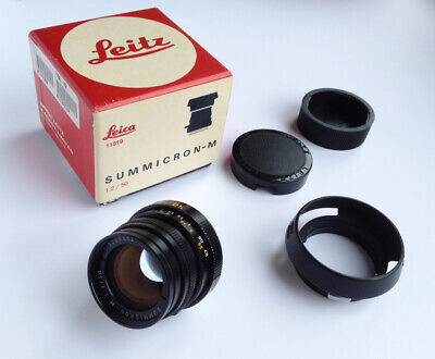 Leica Summicron-M 50mm f/2 Lens - V4, made in Canada, with Box
