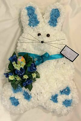 Artificial Silk Funeral Flowers Bunny Rabbit Tribute Childrens Memorial Blue