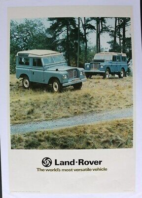 AFFICHE ORIGINALE GARAGE LAND ROVER BRITISH LEYLAND serie I II  III 1 2 3 2XBLUE