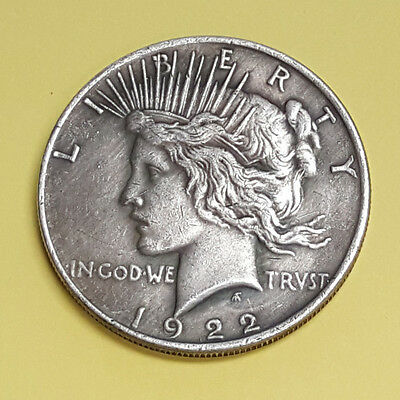Two Sided 1922 Peace Dollar Coin Double Headed Coin