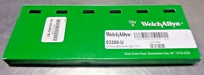 Box of 6 Welch Allyn 03300-U Halogen Lamps 2.5V For 11511