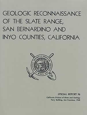 Death Valley, Panamint, Trona, Calif GOLD MINES, Slate Range report, sep MAPS VG