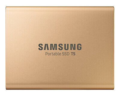 New Samsung - MU-PA1T0G/WW - 1TB T5 Portable SSD - Rose Gold