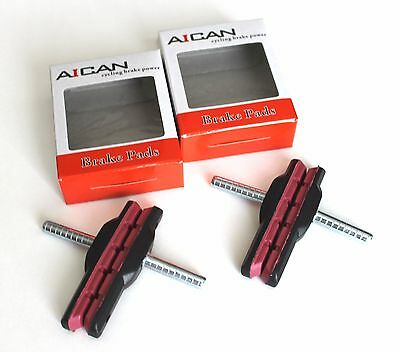 Aican Bike Bicycle Cantilever Canti shoes pads Shimano Deore, Acera, 2pcs