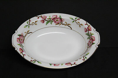 """Vintage """"Blossomtime"""" Oval Serving Bowl - Narumi Japan-Cherry Blossoms"""