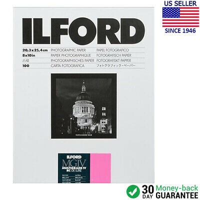 "Ilford Multigrade IV RC DeLuxe Paper (Glossy, 8 x 10"", 100 Sheets) 1770340"